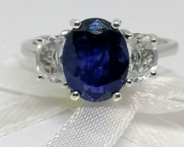 Sapphire and Topaz Ring 4.75 TCW