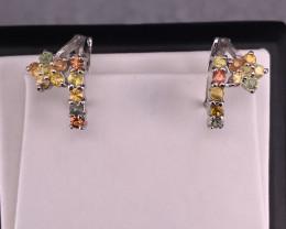 Mix Sapphire Earrings in Silver 925