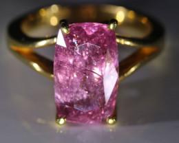Tajik Pink Spinel 6.02ct Solid 22K Yellow Gold Ring
