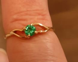 umba valley Tanzania African emerald 9ct YG ring