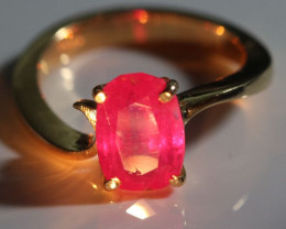 Ruby 3.25ct Solid 18K Yellow Gold Ring