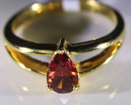 Orange Mahenge Spinel 1.02ct Solid 18K Yellow Gold Ring