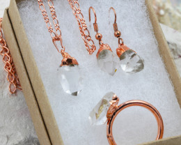 4 Piece Crystal Jewelry set $99 for $19.00 - Ring Size X -