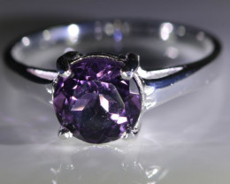 Amethyst 1.95ct Platinum Finish Solid 925 Sterling Silver Ring