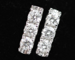 18 K White Gold Diamond earrings - H5 - E11257