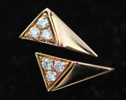 18 K Yellow Gold Diamond earrings - H7 - E11623 -1