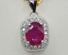 Natural Peridot, CZ and 925 Silver Pendant, Elegant Design