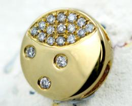 18 K Yellow Gold Diamond Pendant - H24 - P11585 -1