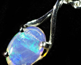 18K WHITE GOLD CRYSTAL OPAL PENDANT SETTING CF1383