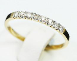 18 K Yellow Gold Engagement Diamond Ring Size 6.75 - H49 - R7498 -1