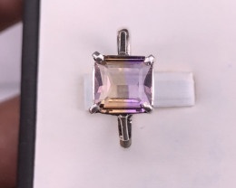 Natural Ametrine Ring in Silver 925