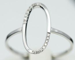 18 K White Gold Diamond Ring Size 7 - H57 - R11550 -1