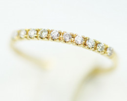 18 K Yellow Gold Diamond Ring Size 6.5 - H59 - R9754 -1