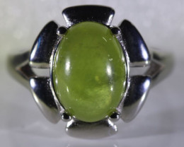Sphene 9.05ct Platinum Finish Solid 925 Sterling Silver Ring