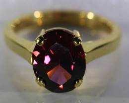 Umbalite Garnet 5.10ct Solid 18K Yellow Gold Ring