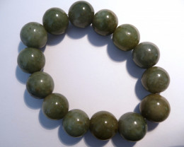 Beautiful Natural Jade Bracelet 11mm rounds (z2319)