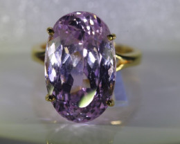 Pink Kunzite 23.50ct Solid 22k Yellow Gold Ring