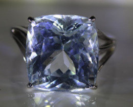 Aquamarine 20.00ct Solid 18K White Gold Ring