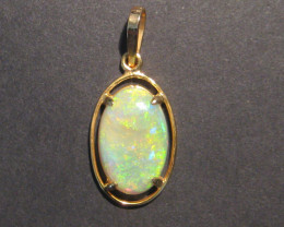 Stunning Solid Australian Opal and 9k Gold Pendant (z1221)