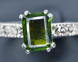 11.66 Crt Natural Tourmaline 925 Sterling Silver Ring AB (02)