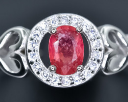 14.61 Crt Natural Ruby 925 Sterling Silver Ring AB (02)
