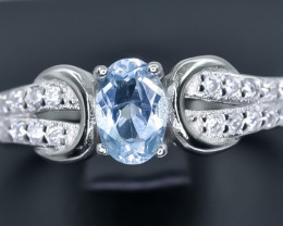 15.50 Crt Natural Topaz 925 Sterling Silver Ring AB (02)