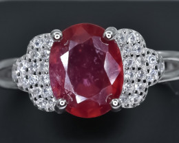 18.93 Crt Natural Ruby 925 Sterling Silver Ring AB (02)