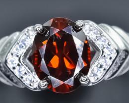 17.37 Crt Natural Rhodolite Garnet 925 Sterling Silver Ring AB (02)