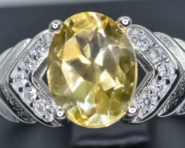 15.98 Crt Natural Citrine 925 Sterling Silver Ring AB (02)
