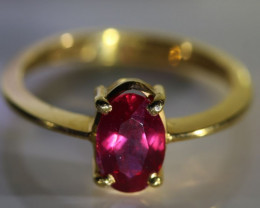 Winza Ruby 1.33ct Solid 22K Yellow Gold Ring