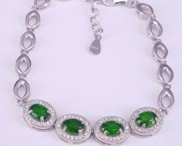 Natural chrome dipsiode barcelet.