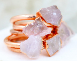 Five Lovers Rock Crystal Copper Electroformed Rings NA 284