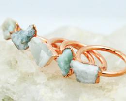 Five Imaginative Aventurine Copper Electroformed Rings NA 285