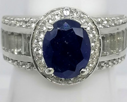 Sapphire and Topaz Ring 6.00 TCW