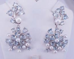 Natural Aquamarine Earrings.