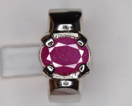 Stunning Unheated Ruby Ring