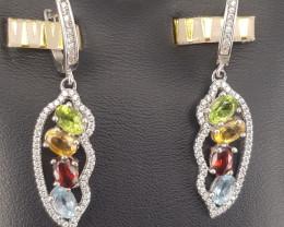 Natural Tourmaline Earrings.