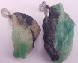 Natural Emerald Pendants.