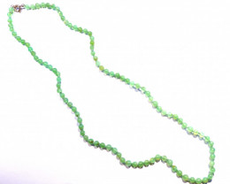 "Beautiful Natural Australian Chrysoprase Bead Necklace 18.8"" (z2747)"
