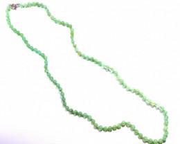 "Beautiful Natural Australian Chrysoprase Bead Necklace 18.8"" (z2747)"