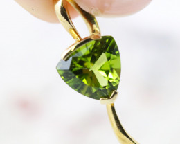 14 K Yellow Gold Peridot Pendant  P4445 - G38