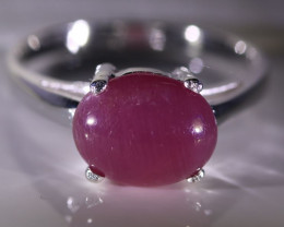 Ruby 3.62ct Platinum Finish Solid 925 Sterling Silver Ring