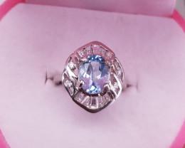 Amazing Blue Topaz Ring.