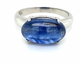 Kyanite 7.10ct Platinum Finish Solid 925 Sterling Silver Ring