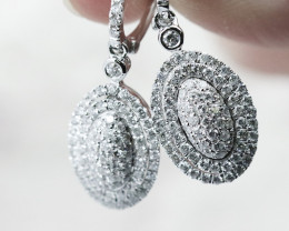 18K White Gold Diamond Earrings - H71 - E9201
