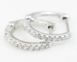 18K White Gold Diamond Earrings - H72 - E9349