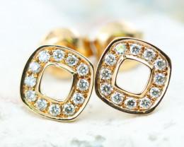 18K Rose Gold Diamond Earrings - H74 - E9735