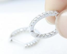18K White Gold Diamond Earrings - H75 - E10129