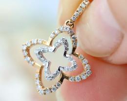 18K White & Rose Gold Diamond Pendant - H99 - P10626