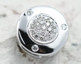 18K White Gold Diamond Pendant - H103 - P11546